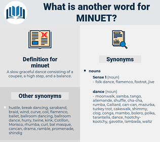 minuet, synonym minuet, another word for minuet, words like minuet, thesaurus minuet