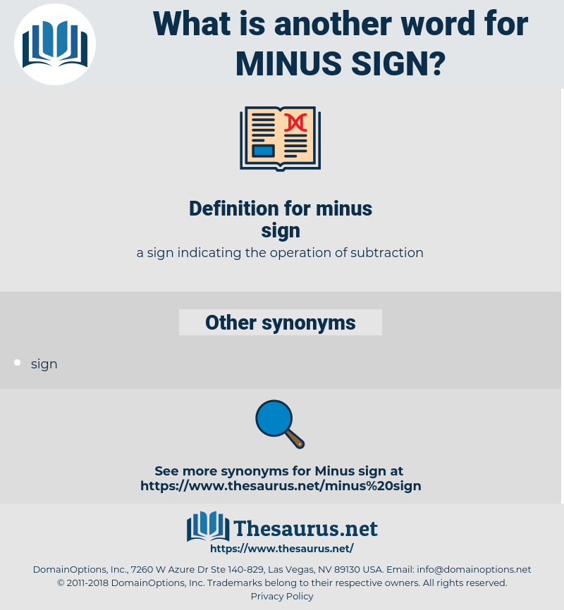 minus sign, synonym minus sign, another word for minus sign, words like minus sign, thesaurus minus sign
