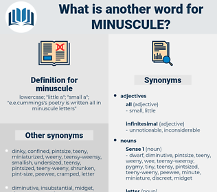 minuscule, synonym minuscule, another word for minuscule, words like minuscule, thesaurus minuscule