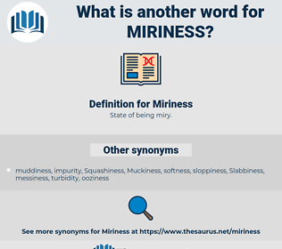 Miriness, synonym Miriness, another word for Miriness, words like Miriness, thesaurus Miriness