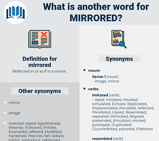 mirrored, synonym mirrored, another word for mirrored, words like mirrored, thesaurus mirrored