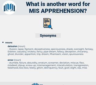 mis-apprehension, synonym mis-apprehension, another word for mis-apprehension, words like mis-apprehension, thesaurus mis-apprehension