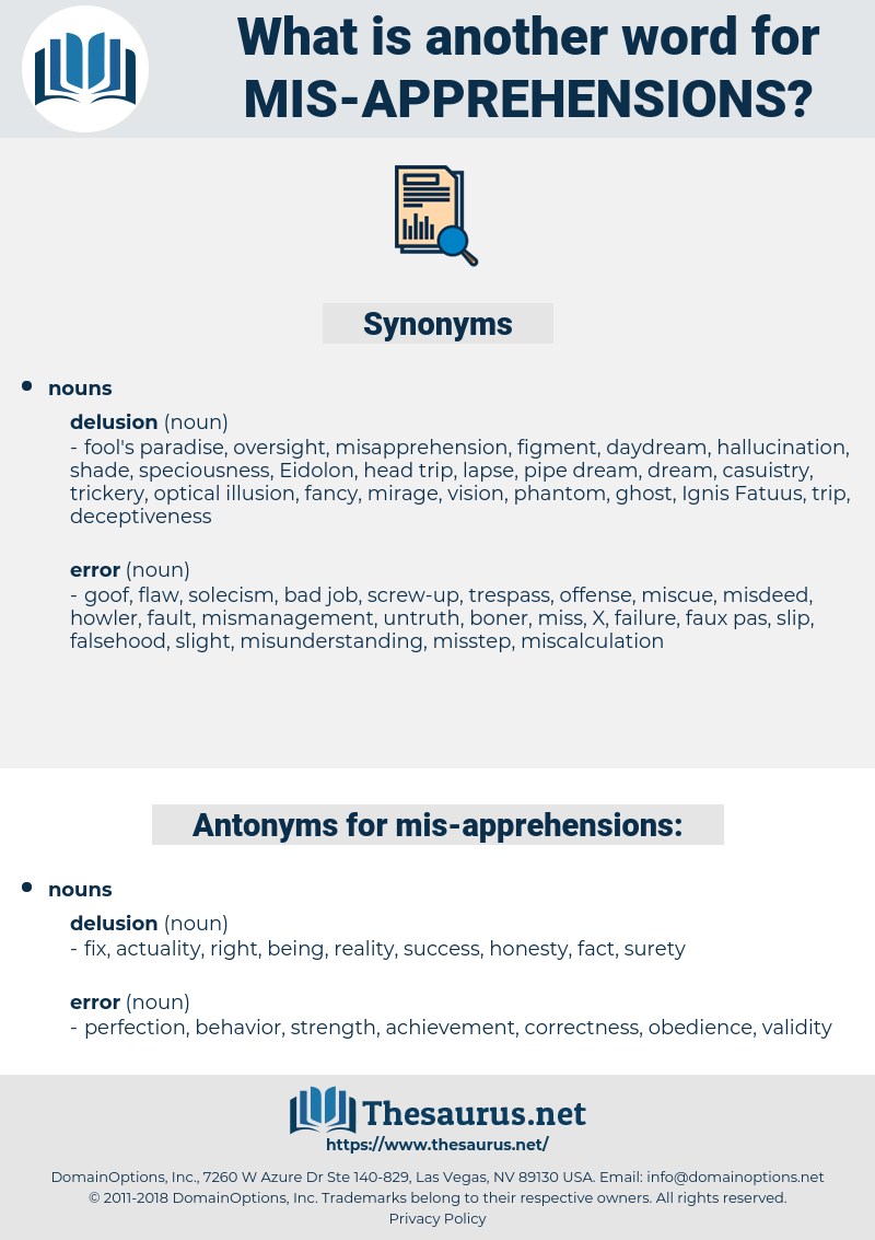mis-apprehensions, synonym mis-apprehensions, another word for mis-apprehensions, words like mis-apprehensions, thesaurus mis-apprehensions