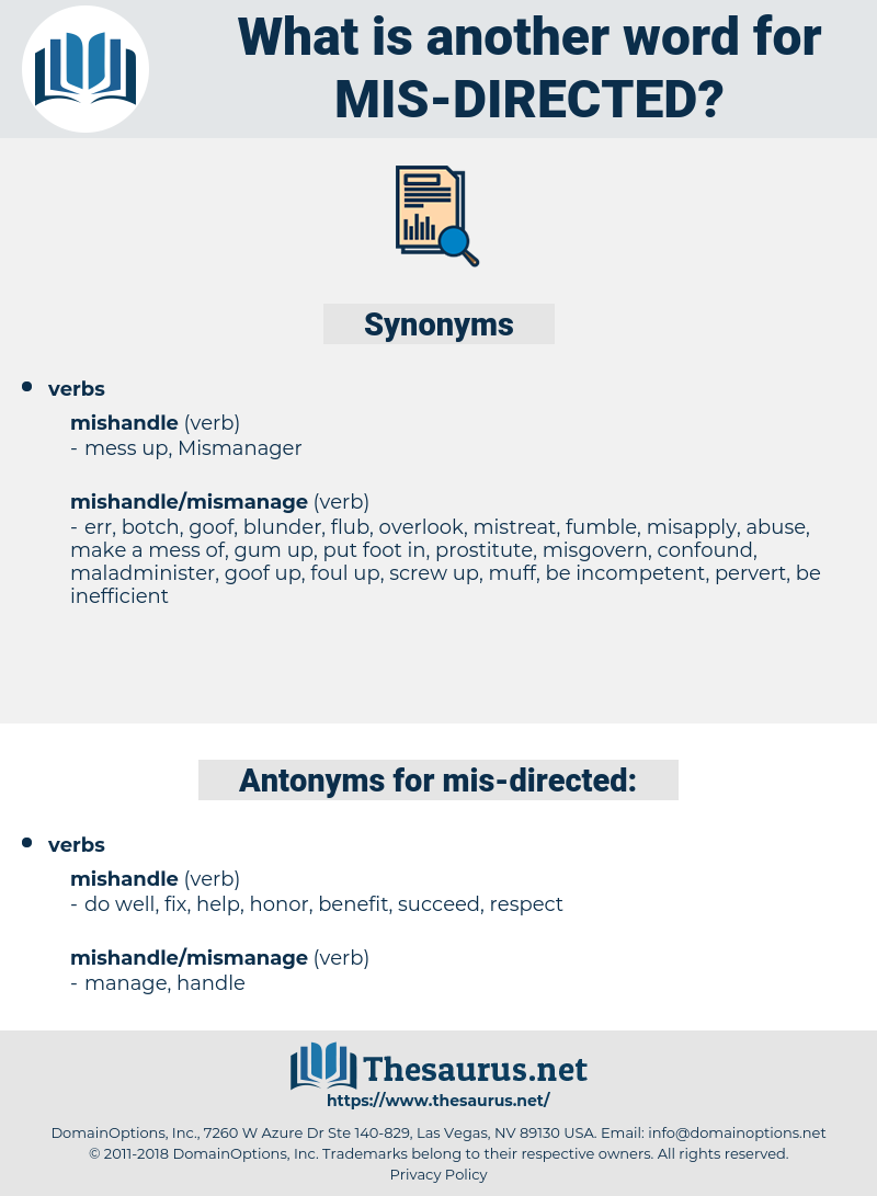 mis directed, synonym mis directed, another word for mis directed, words like mis directed, thesaurus mis directed