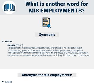 mis-employments, synonym mis-employments, another word for mis-employments, words like mis-employments, thesaurus mis-employments