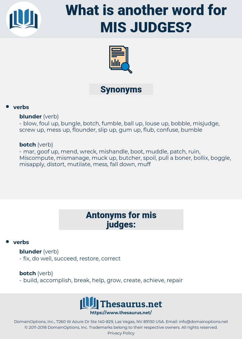 mis-judges, synonym mis-judges, another word for mis-judges, words like mis-judges, thesaurus mis-judges