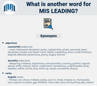 mis leading, synonym mis leading, another word for mis leading, words like mis leading, thesaurus mis leading