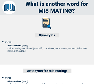 mis mating, synonym mis mating, another word for mis mating, words like mis mating, thesaurus mis mating