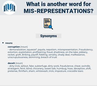 mis representations, synonym mis representations, another word for mis representations, words like mis representations, thesaurus mis representations
