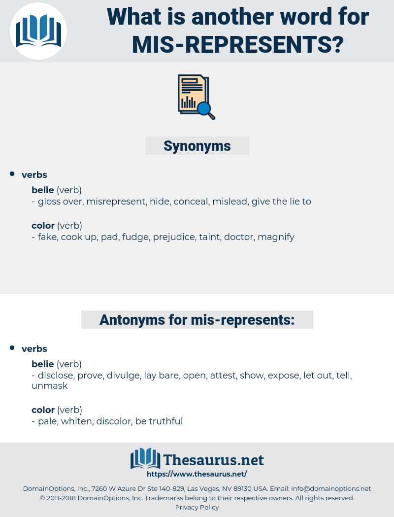 mis represents, synonym mis represents, another word for mis represents, words like mis represents, thesaurus mis represents
