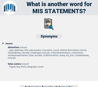 mis-statements, synonym mis-statements, another word for mis-statements, words like mis-statements, thesaurus mis-statements