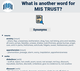 mis trust, synonym mis trust, another word for mis trust, words like mis trust, thesaurus mis trust