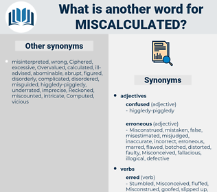 miscalculated, synonym miscalculated, another word for miscalculated, words like miscalculated, thesaurus miscalculated