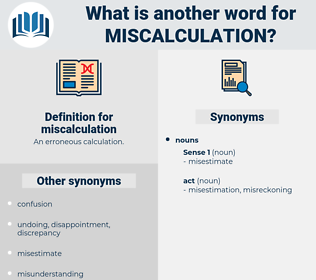 miscalculation, synonym miscalculation, another word for miscalculation, words like miscalculation, thesaurus miscalculation