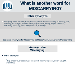 Miscarrying, synonym Miscarrying, another word for Miscarrying, words like Miscarrying, thesaurus Miscarrying