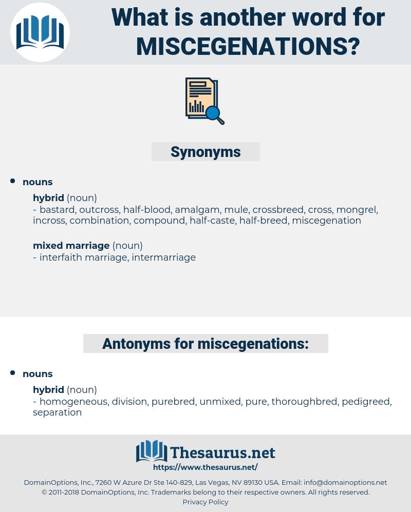 miscegenations, synonym miscegenations, another word for miscegenations, words like miscegenations, thesaurus miscegenations