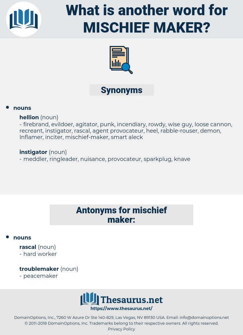 mischief maker, synonym mischief maker, another word for mischief maker, words like mischief maker, thesaurus mischief maker