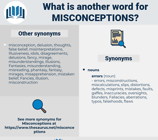 misconceptions, synonym misconceptions, another word for misconceptions, words like misconceptions, thesaurus misconceptions
