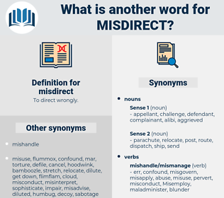 misdirect, synonym misdirect, another word for misdirect, words like misdirect, thesaurus misdirect