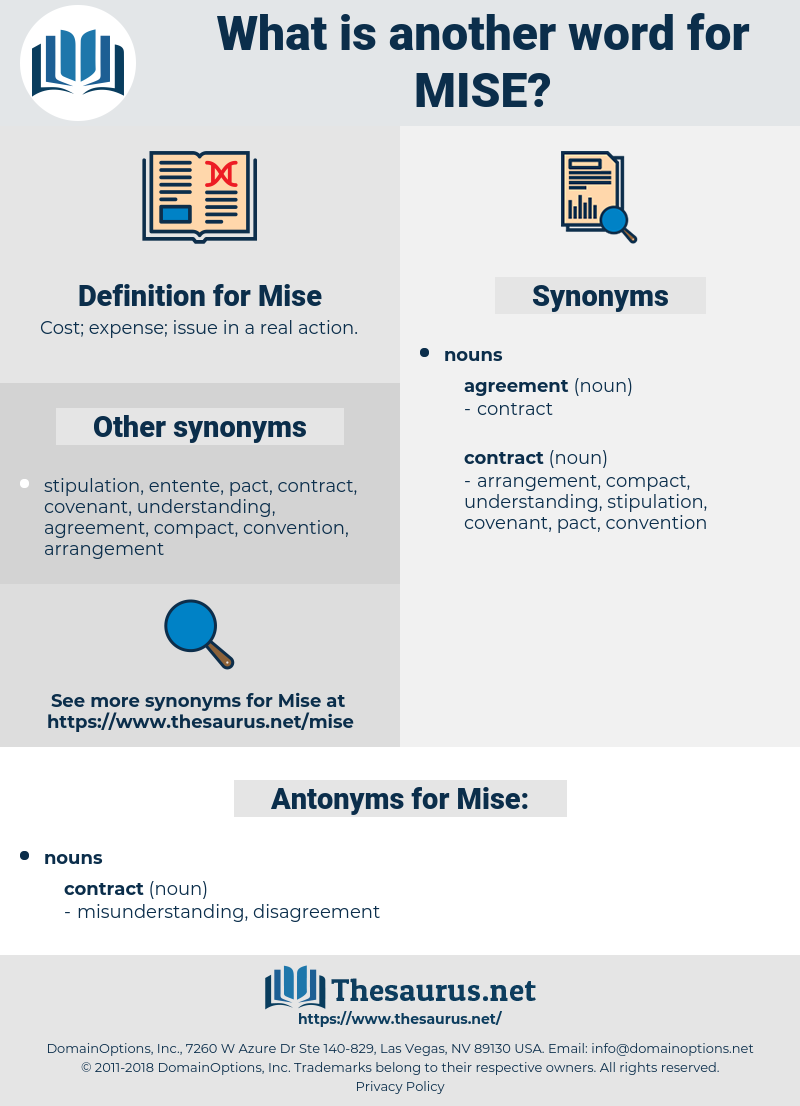 Mise, synonym Mise, another word for Mise, words like Mise, thesaurus Mise