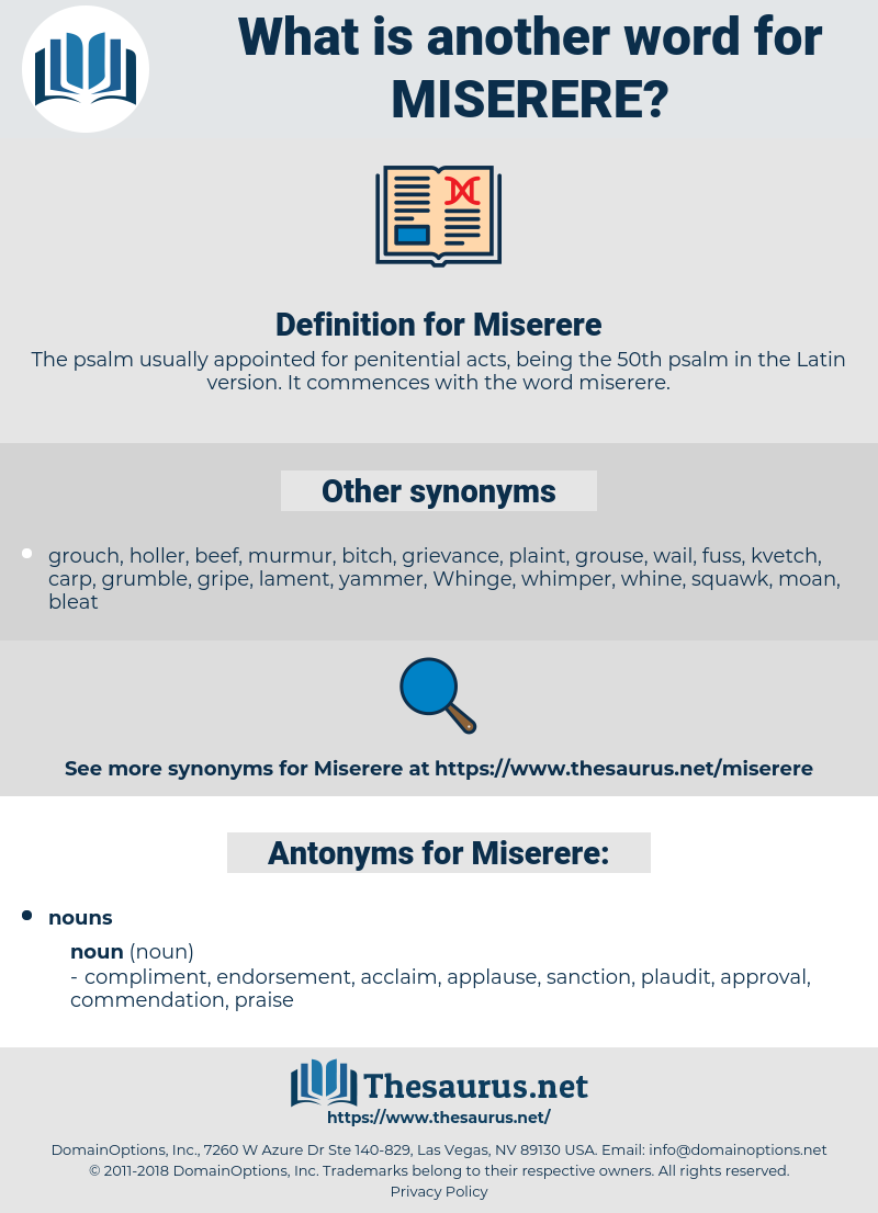 Miserere, synonym Miserere, another word for Miserere, words like Miserere, thesaurus Miserere