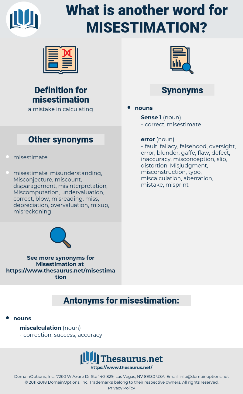 misestimation, synonym misestimation, another word for misestimation, words like misestimation, thesaurus misestimation