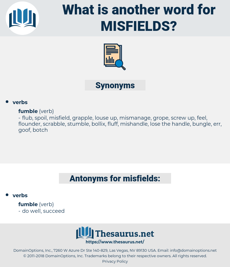 misfields, synonym misfields, another word for misfields, words like misfields, thesaurus misfields