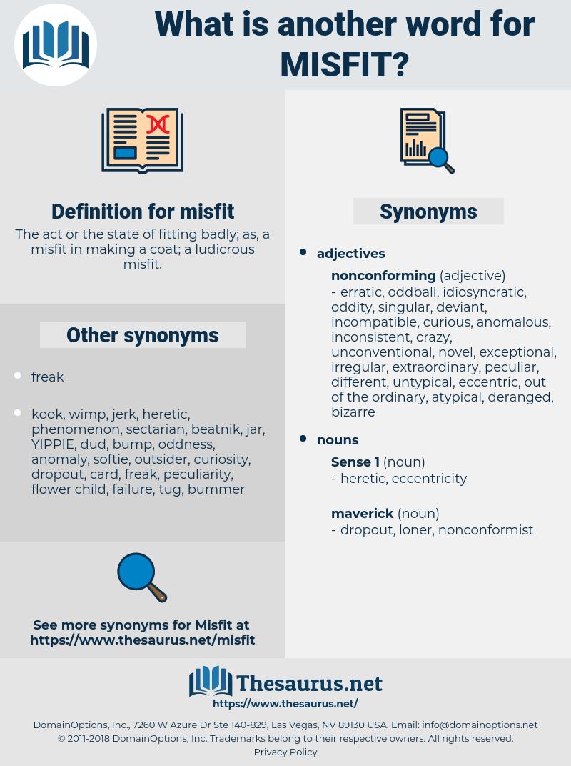 misfit, synonym misfit, another word for misfit, words like misfit, thesaurus misfit