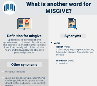 misgive, synonym misgive, another word for misgive, words like misgive, thesaurus misgive