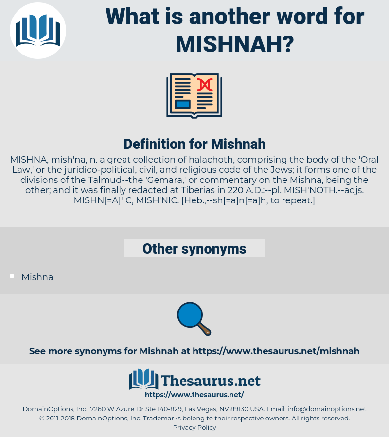 Mishnah, synonym Mishnah, another word for Mishnah, words like Mishnah, thesaurus Mishnah