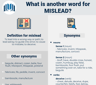 mislead, synonym mislead, another word for mislead, words like mislead, thesaurus mislead