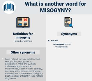 misogyny, synonym misogyny, another word for misogyny, words like misogyny, thesaurus misogyny