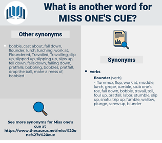 miss one's cue, synonym miss one's cue, another word for miss one's cue, words like miss one's cue, thesaurus miss one's cue