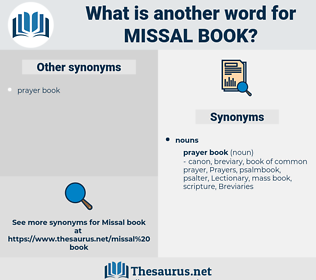 missal book, synonym missal book, another word for missal book, words like missal book, thesaurus missal book