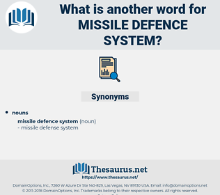 Missile Defence System, synonym Missile Defence System, another word for Missile Defence System, words like Missile Defence System, thesaurus Missile Defence System