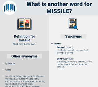 missile, synonym missile, another word for missile, words like missile, thesaurus missile