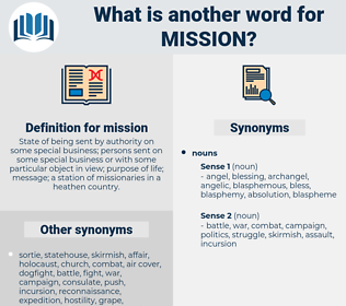 mission, synonym mission, another word for mission, words like mission, thesaurus mission