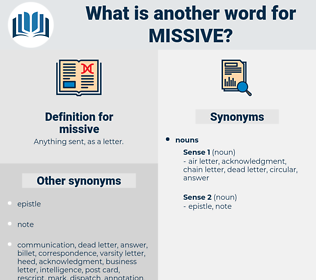 missive, synonym missive, another word for missive, words like missive, thesaurus missive