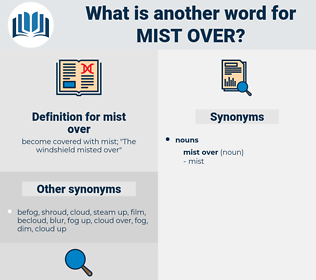 mist over, synonym mist over, another word for mist over, words like mist over, thesaurus mist over