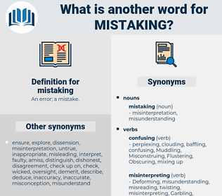 mistaking, synonym mistaking, another word for mistaking, words like mistaking, thesaurus mistaking