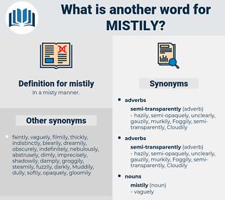 mistily, synonym mistily, another word for mistily, words like mistily, thesaurus mistily