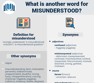misunderstood, synonym misunderstood, another word for misunderstood, words like misunderstood, thesaurus misunderstood