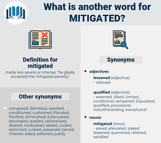 mitigated, synonym mitigated, another word for mitigated, words like mitigated, thesaurus mitigated
