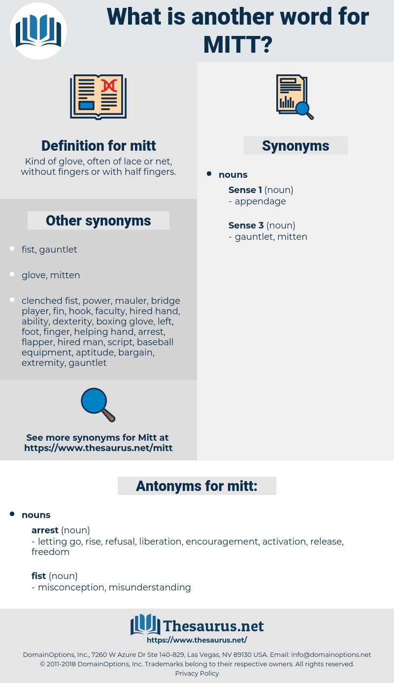 mitt, synonym mitt, another word for mitt, words like mitt, thesaurus mitt