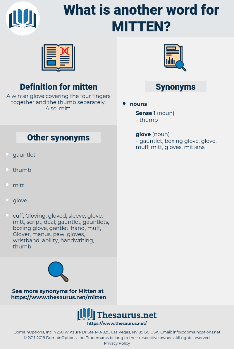 mitten, synonym mitten, another word for mitten, words like mitten, thesaurus mitten