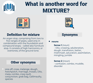 mixture, synonym mixture, another word for mixture, words like mixture, thesaurus mixture