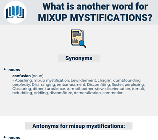 mixup mystifications, synonym mixup mystifications, another word for mixup mystifications, words like mixup mystifications, thesaurus mixup mystifications