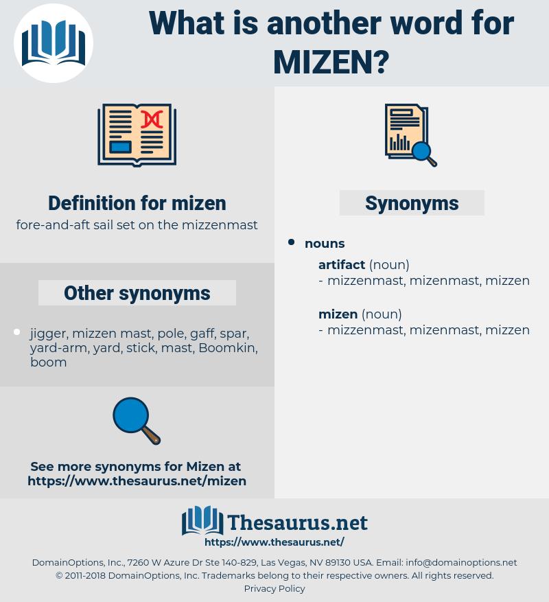 mizen, synonym mizen, another word for mizen, words like mizen, thesaurus mizen