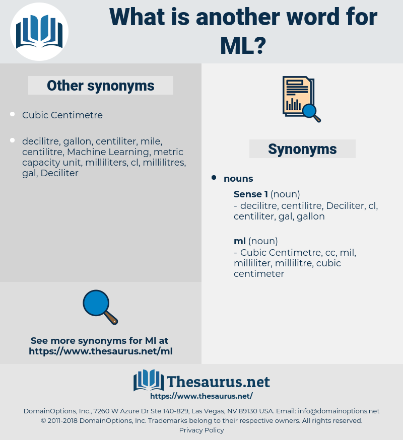 ml, synonym ml, another word for ml, words like ml, thesaurus ml