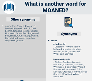 Moaned, synonym Moaned, another word for Moaned, words like Moaned, thesaurus Moaned